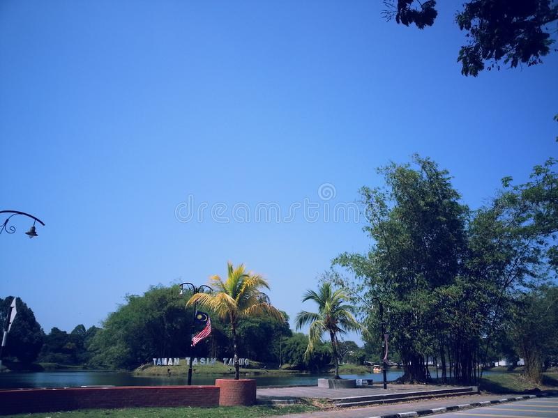 Summer view of Taiping, Malaysia. One stock photo