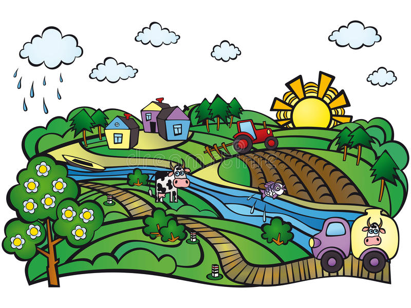 Summer in the village. Farm. royalty free stock image