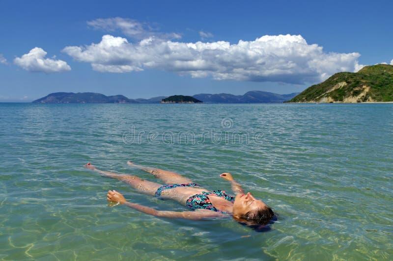 Summer, holiday, water, fun. Seascape. Ionian Sea - Zakynthos Island, landmark attraction in Greece stock photo