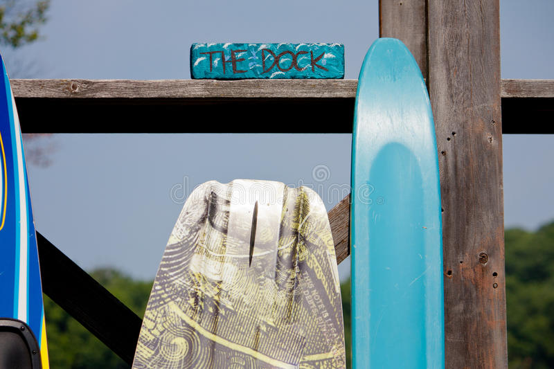 Summer watersports on the dock royalty free stock images