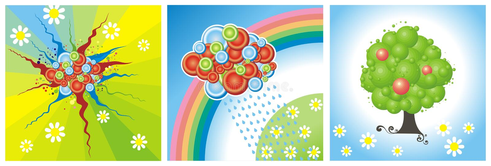 Download Summer weather stock vector. Illustration of tree, square - 4989660