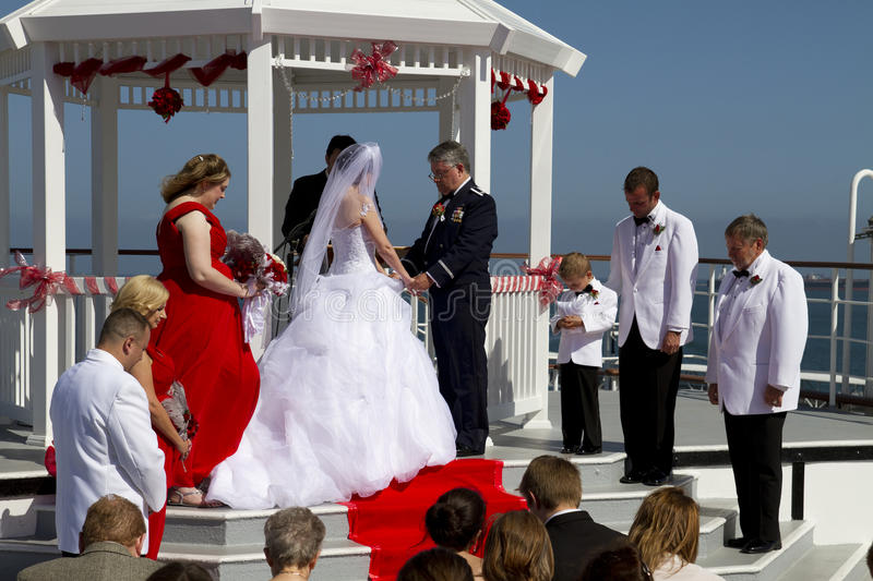 Download Summer Weddings Aboard Ship Editorial Stock Photo - Image: 41482733