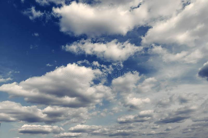 Summer White Clouds, Sky background royalty free stock photos