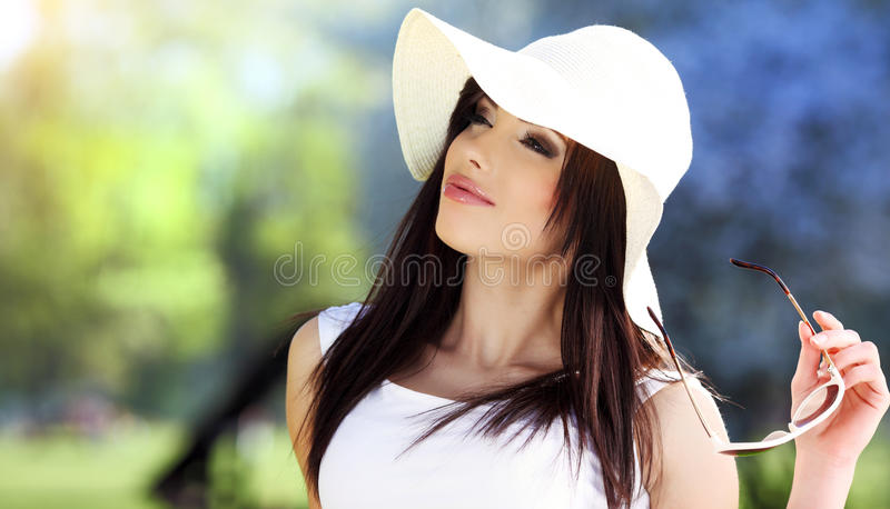 Summer woman stock photos