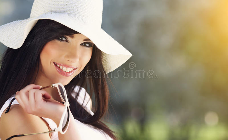 Summer woman royalty free stock image