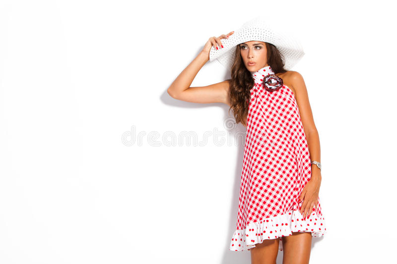 Download Summer woman stock photo. Image of studio, clothes, long - 26050368