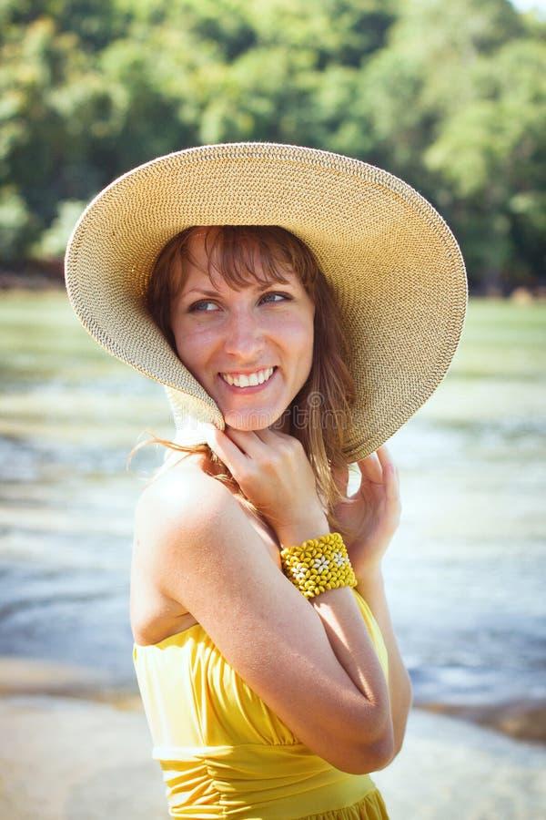 Summer woman stock image