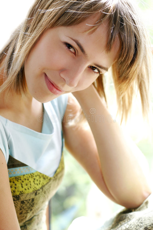 Summer woman royalty free stock photo