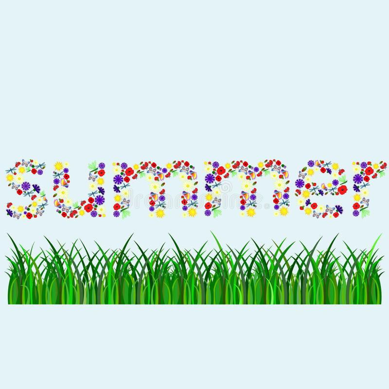 Summer word little letters stock photos