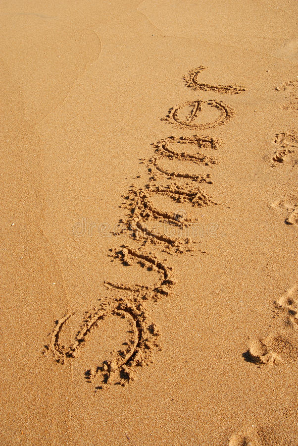 Download SUMMER Word Written On The Sand Stock Image - Image: 14024845