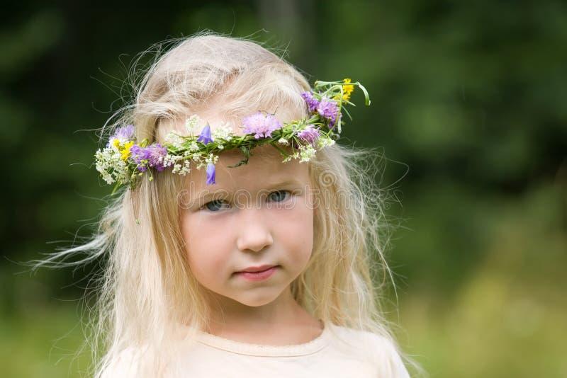 Summer wreath royalty free stock image