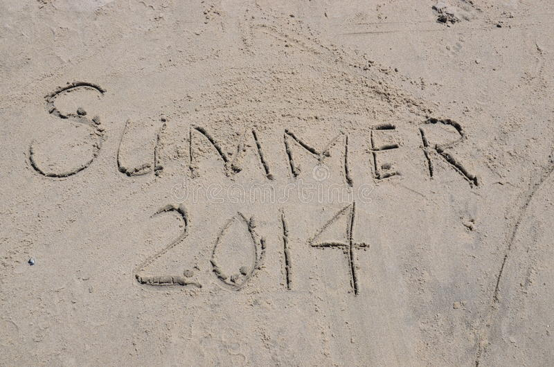 Download Summer 2014 In Written In The Sand Stock Image - Image: 33955643