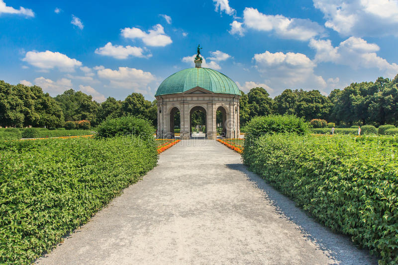 Summerday in Munich park stock images
