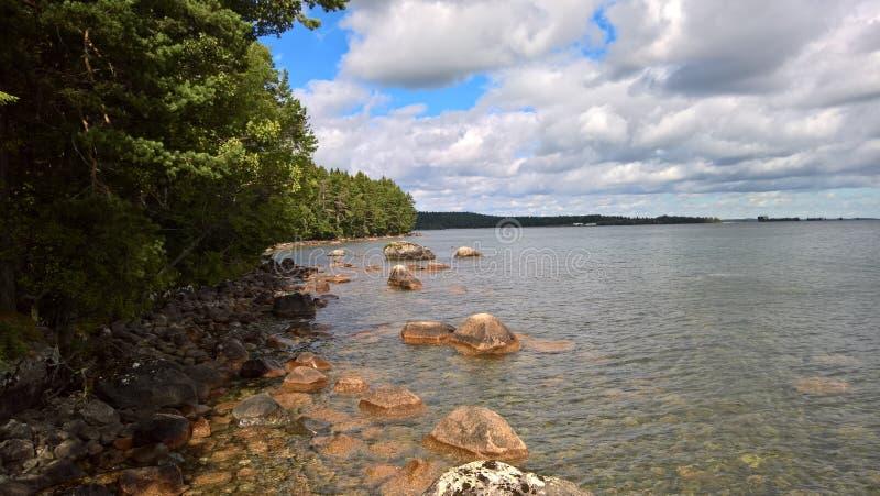 Summerday no lago imagens de stock