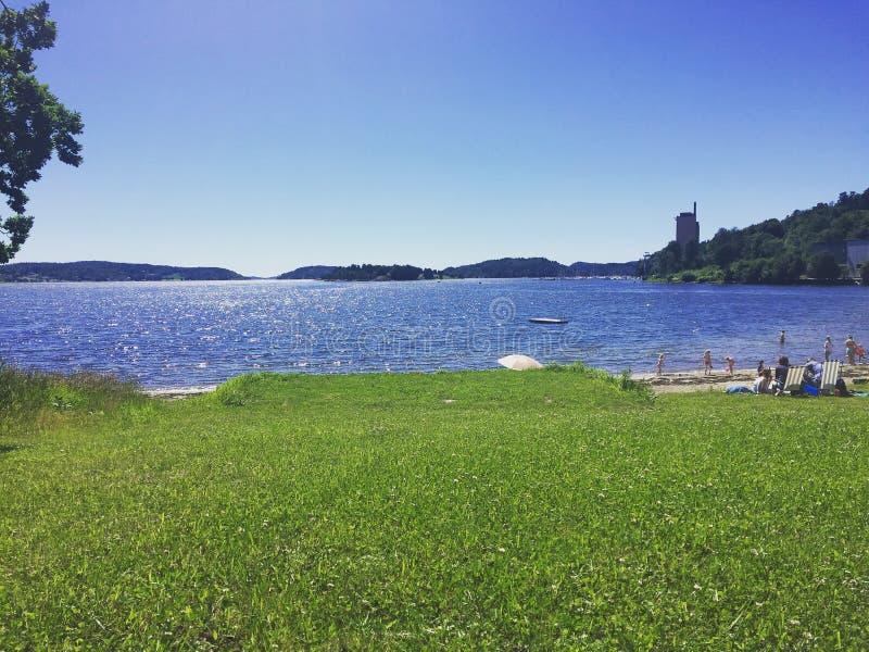 Summerday-Norwegerstrand lizenzfreies stockbild