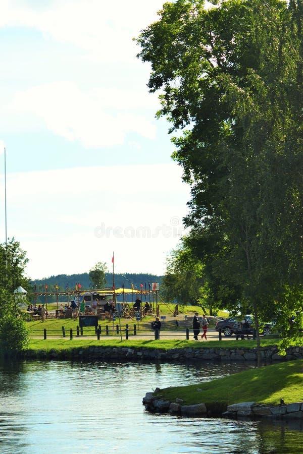 Summerday in Savonlinna, Finland royalty-vrije stock foto's
