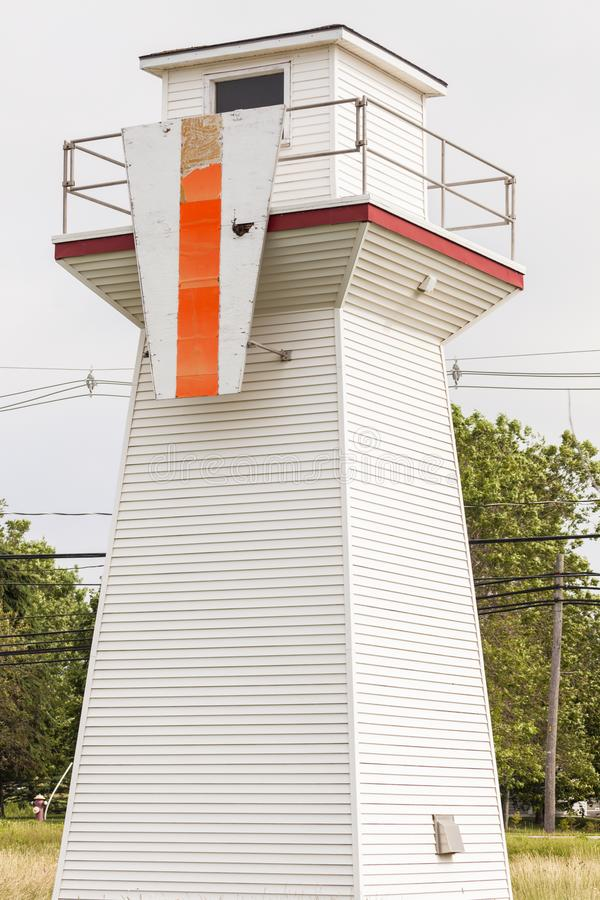 Summerside Outer Range Front Lighthouse on Prince Edward Island. Summere Outer Range Front Lighthouse on Prince Edward Island. Prince Edward Island, Canada royalty free stock photos