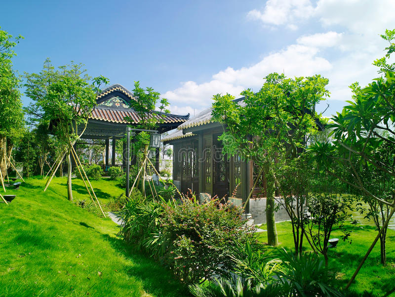 Download Summerhouse editorial photo. Image of landscaping, background - 28268291