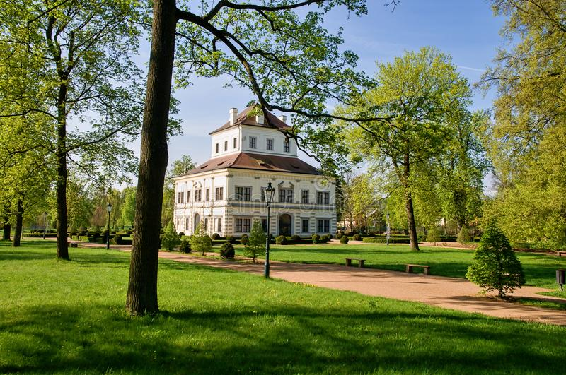 Summerhouse - Ostrov nad Ohri. Summerhouse in the grounds of the chateau park - Ostrov nad Ohri - Czech Republic royalty free stock photo