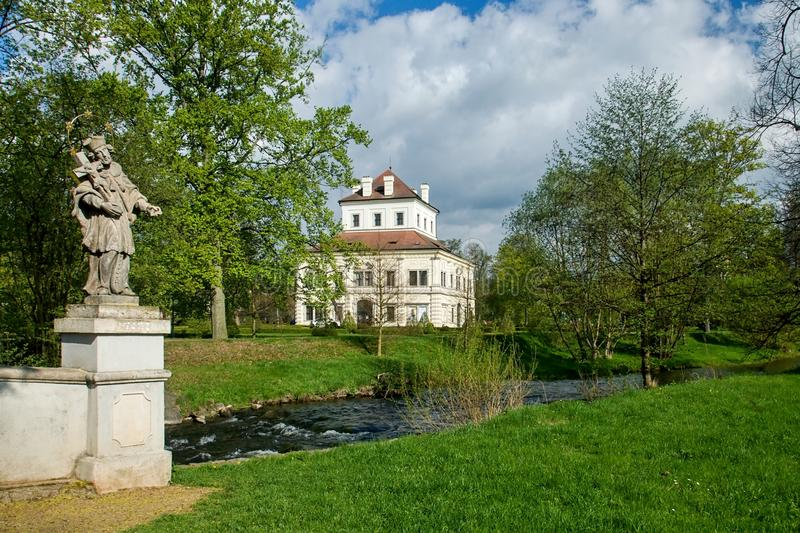 Summerhouse - Ostrov nad Ohri. Summerhouse in the grounds of the chateau park - Ostrov nad Ohri - Czech Republic stock image