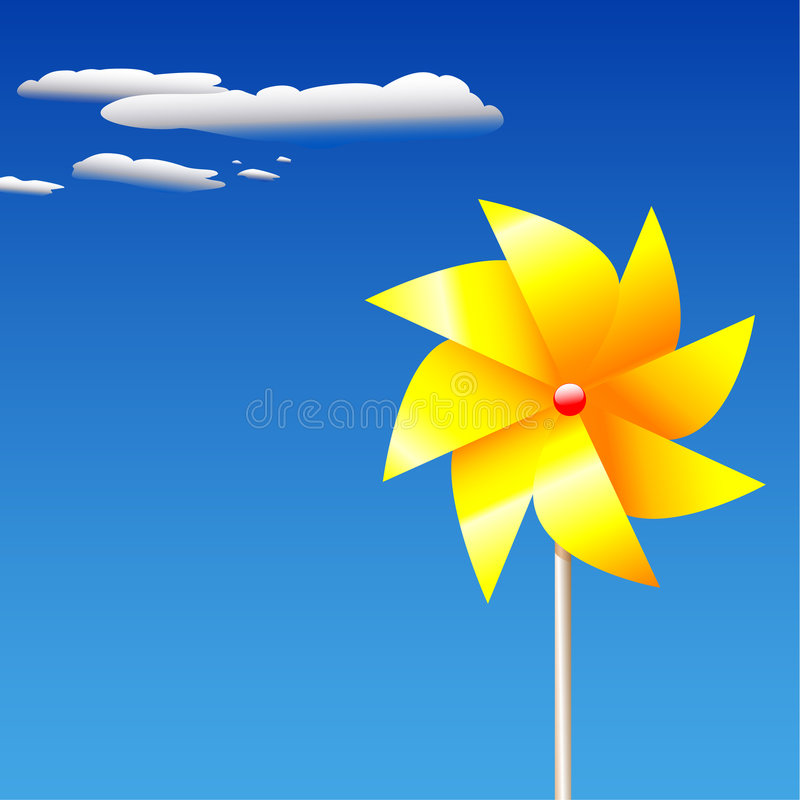 SummerPinwheelToy illustration stock