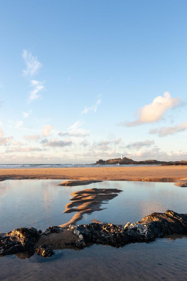 Summers day on Cornwall beach royalty free stock images
