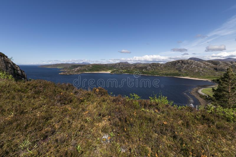 Grunard Bay. A summers day by the sea and beach at Gruinard Bay in Wester Ross, Highlands, Scotland stock photography