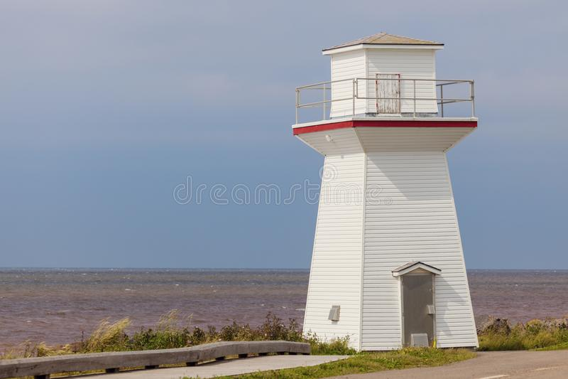 Summerside Outer Range Front Lighthouse on Prince Edward Island. Prince Edward Island, Canada royalty free stock images