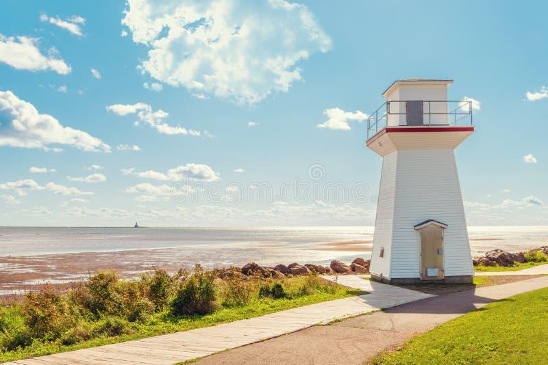 Summerside Outer Range Front Lighthouse. (Summerside, Prince Edward Island,Canada stock photo