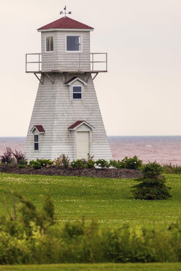 Summerside Outer Range Rear Lighthouse on Prince Edward Island. Prince Edward Island, Canada stock images
