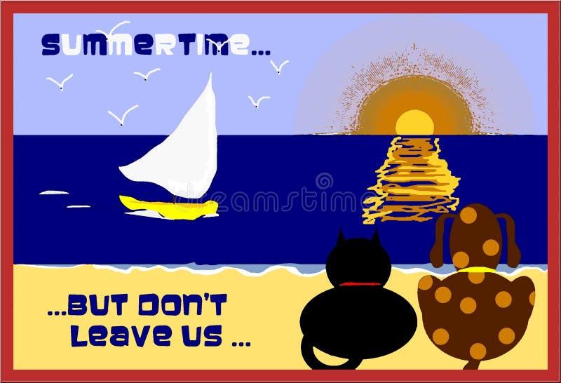 Download Summertime stock illustration. Image of boats, brown, gold - 5627321