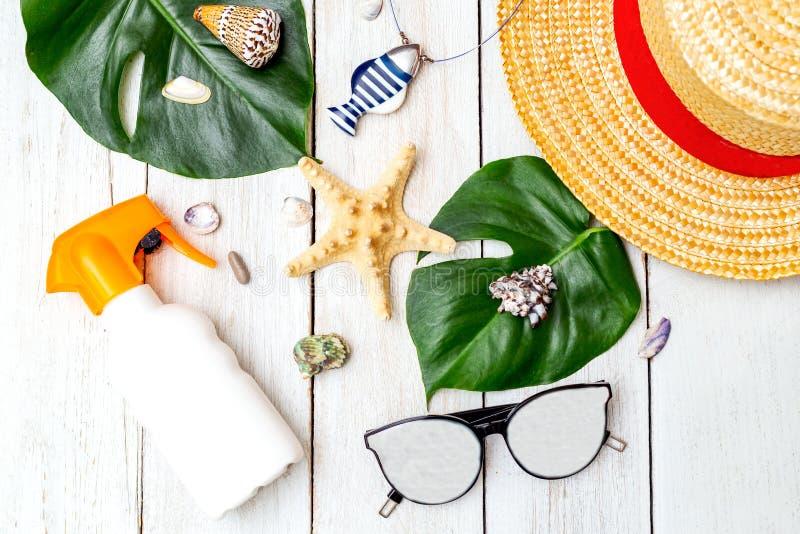 summertime Accessori di viaggio fotografia stock