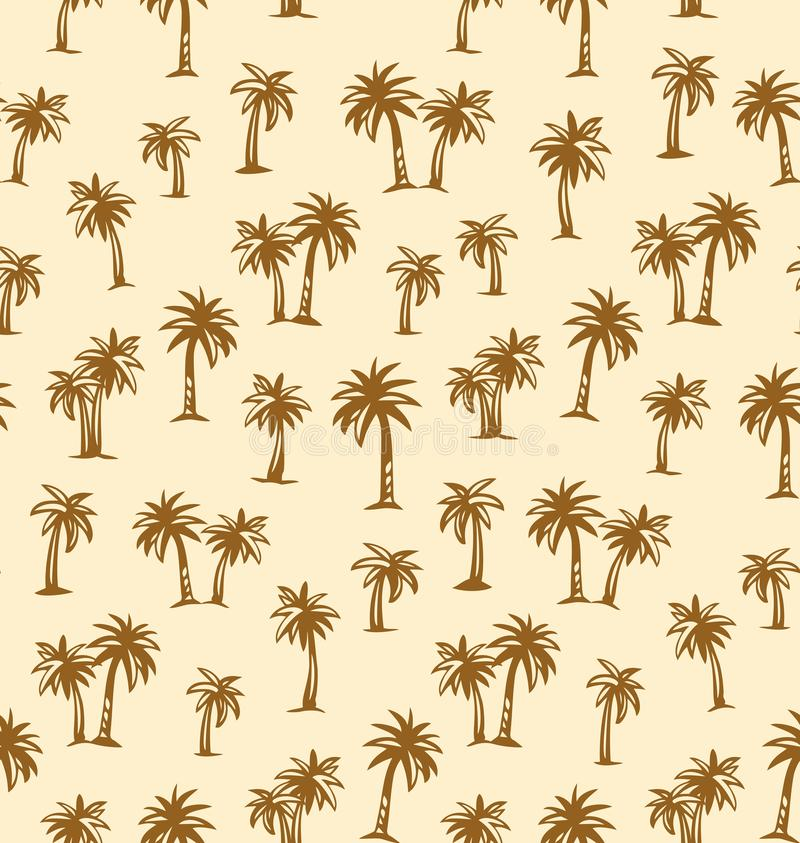 Palm tree. Vector drawing. Summertime african rainforest scenic view on white plantation fond. Freehand outline black ink hand drawn eco floral palmtree logo stock illustration