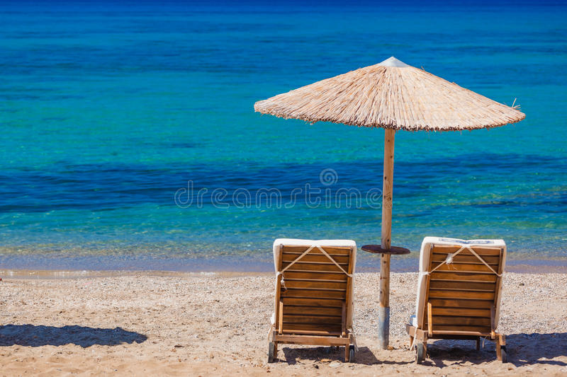 Summertime at the beach. Greece. Rhodes stock photography