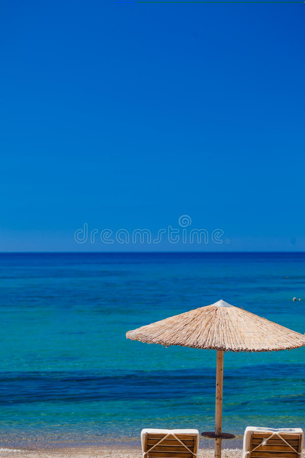 Summertime at the beach. Greece. Rhodes royalty free stock image