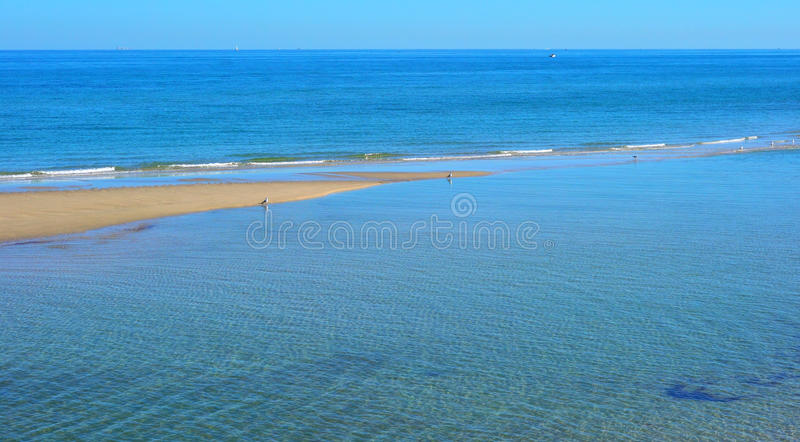 Summertime beach landscape background royalty free stock photography