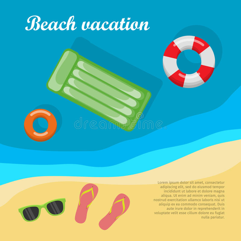 Summertime and Beach Vacation Posters stock illustration