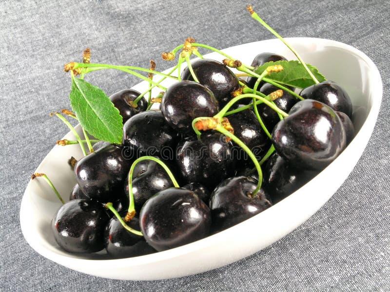 Summertime: black cherry stock photos