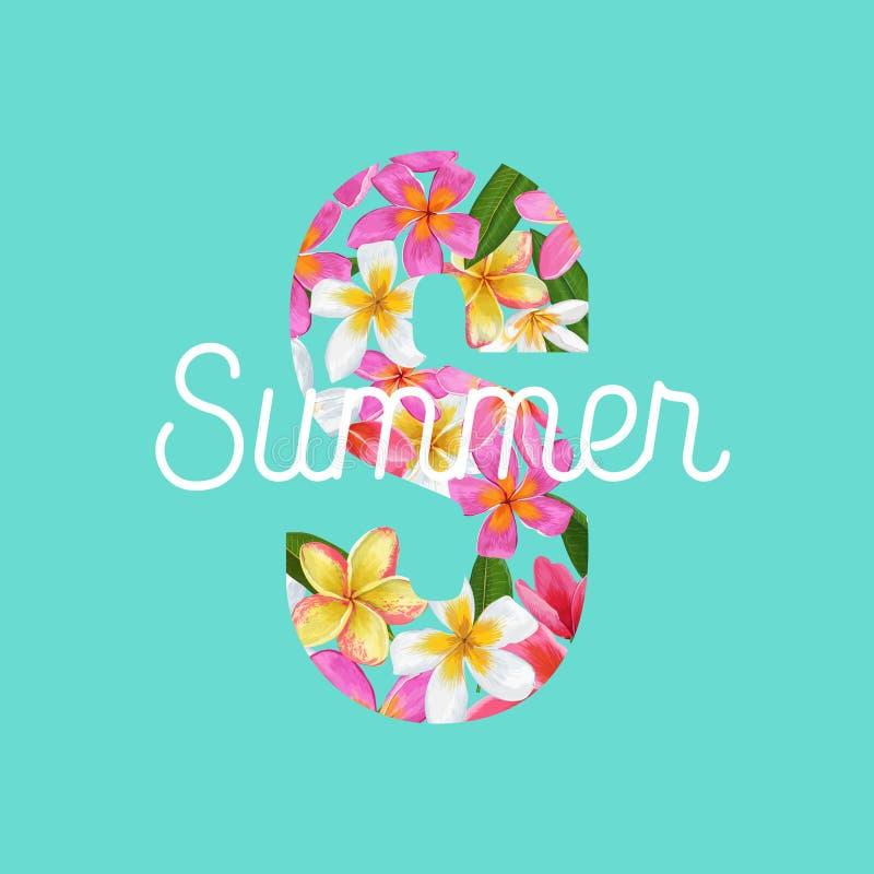 Summertime Vacation Flyer Design Stock Vector