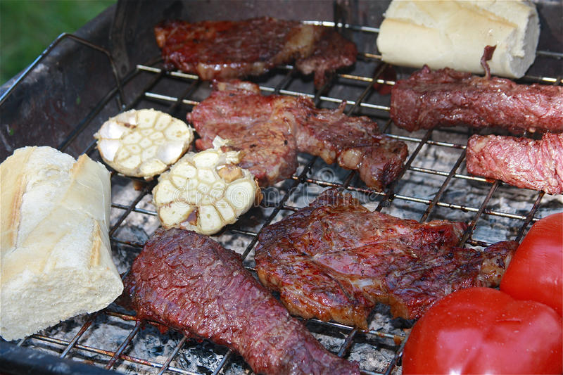 Download Summertime Grilling stock image. Image of charcoal, food - 14820695