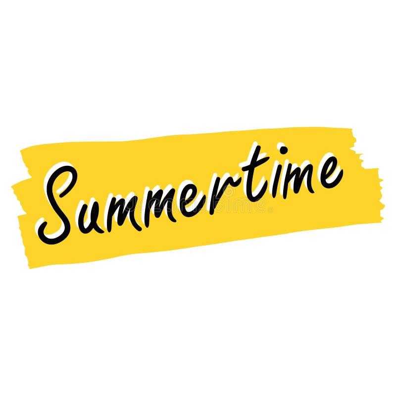 Summertime stock illustration