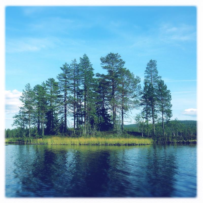 Summertime on a lake in east Norway stock images