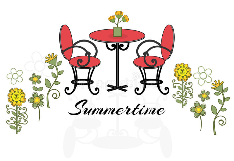Download Summertime patio set stock vector. Illustration of beautiful - 31167155