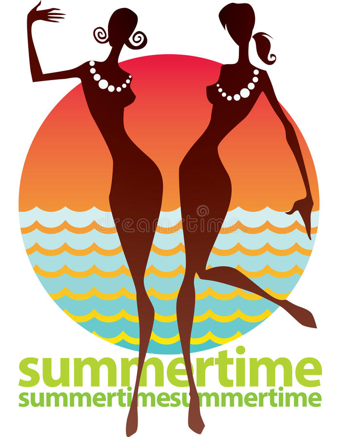 Download Summertime stock vector. Image of graphic, party, female - 31173282