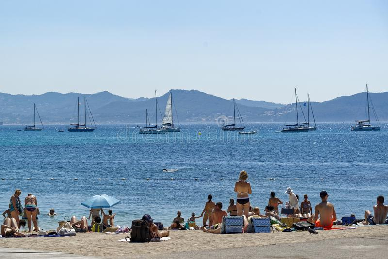 Summertime in the south of France royalty free stock photography