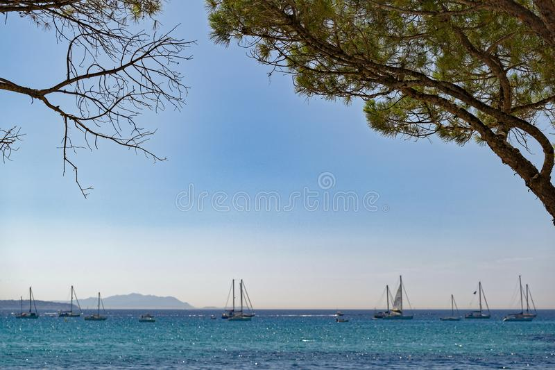 Summertime in the south of France royalty free stock photo