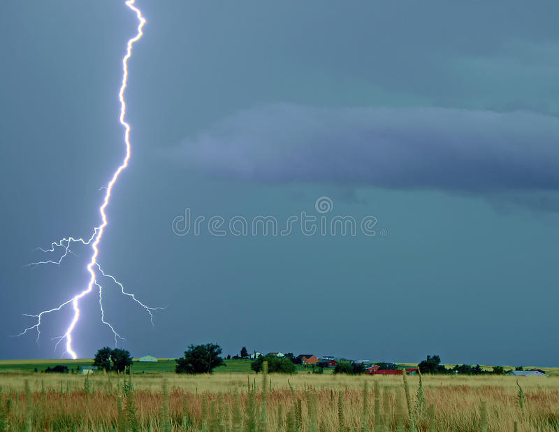 Lightning Thunderstorm on the Prairie royalty free stock image