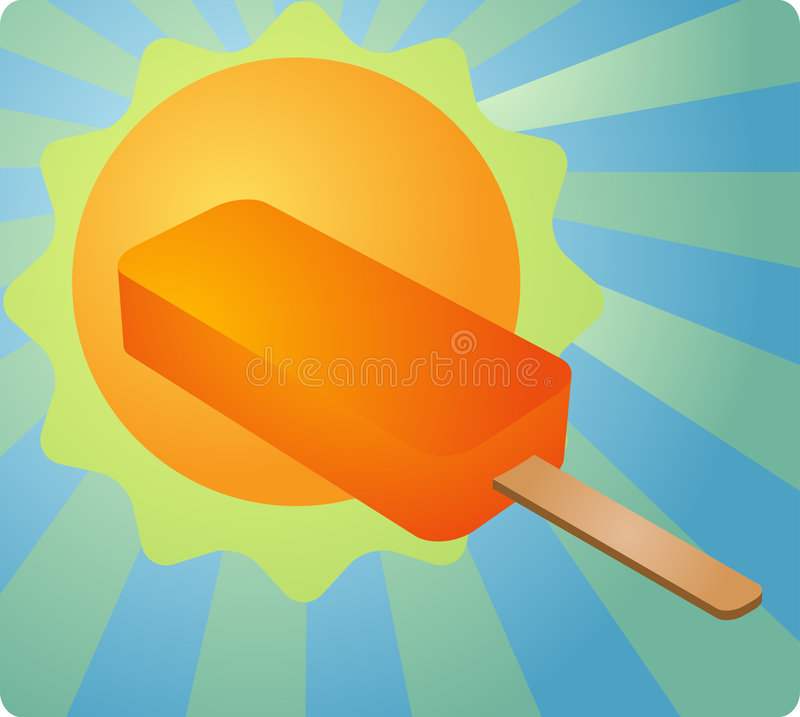 Download Summertime treat stock vector. Image of icelolly, illustration - 5562227