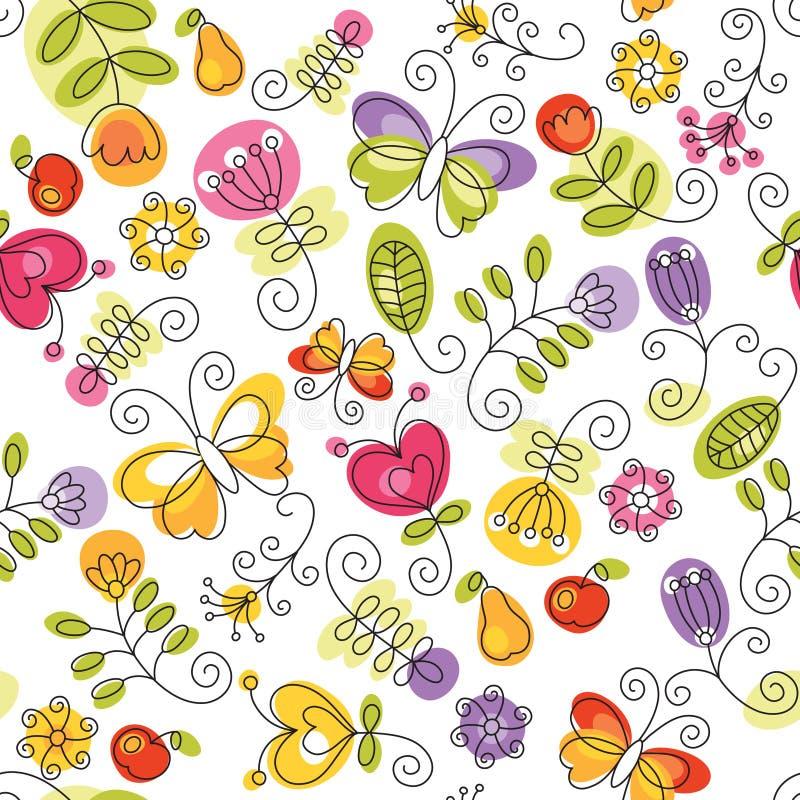 Summery Blumenhintergrund stock abbildung