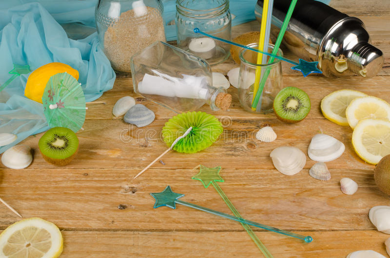Summery table setting stock images
